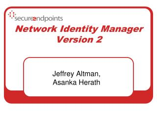 Network  Identity Manager  Version 2