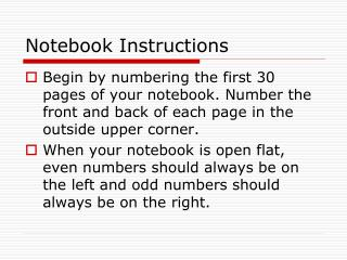 Notebook Instructions
