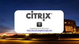Installing Citrix Receiver kccctx.kingsborough