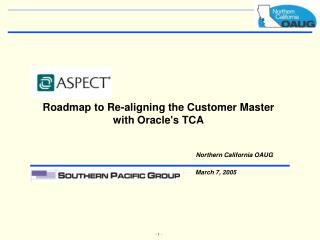 Roadmap to Re-aligning the Customer Master with Oracle's TCA