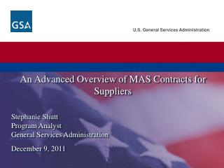 An Advanced  Overview of MAS Contracts for Suppliers