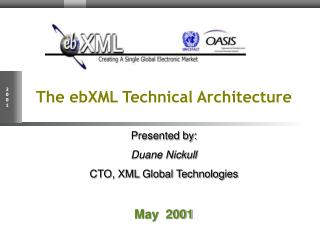 The ebXML Technical Architecture Presented by: Duane Nickull CTO, XML Global Technologies May  2001