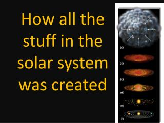 How all the stuff in the solar system was created