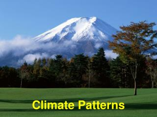 Climate Patterns