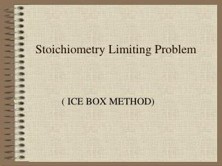 Stoichiometry  Limiting Problem