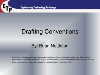 Drafting Conventions
