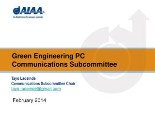 Green Engineering  PC  Communications Subcommittee
