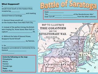 Battl e of Saratoga