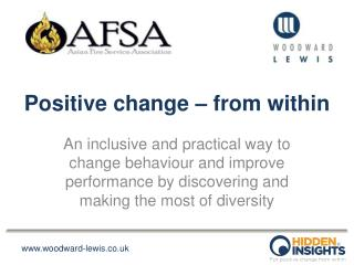 Positive change – from within