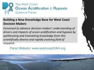 Building a New Knowledge Base for West Coast Decision Makers