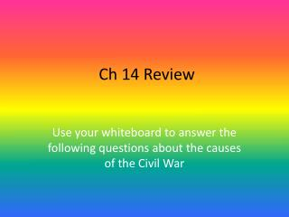 Ch 14 Review
