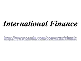 International Finance oanda/converter/classic
