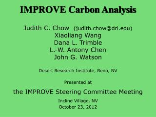 IMPROVE Carbon Analysis