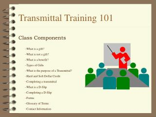 Transmittal Training 101