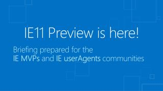 IE11 Preview is here!