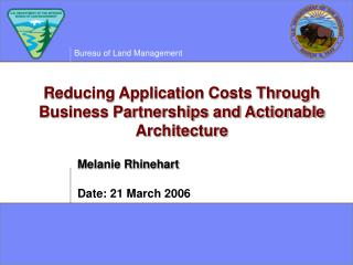 Reducing Application Costs Through Business Partnerships and Actionable Architecture