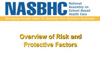 Overview  of Risk and  Protective Factors