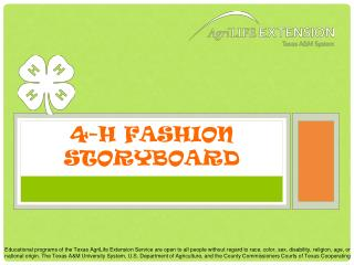 4-H Fashion Storyboard