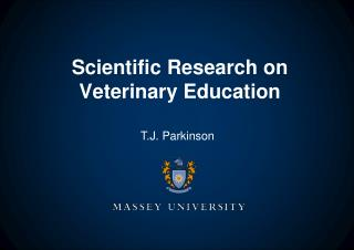 Scientific Research on  Veterinary Education