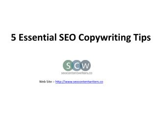 5 Essential SEO Copywriting Tips