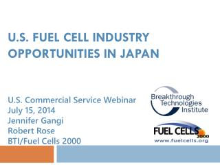 U.S. Fuel Cell Industry OPPORTUNITIES In JAPAN