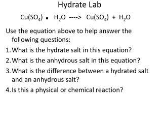 Hydrate Lab