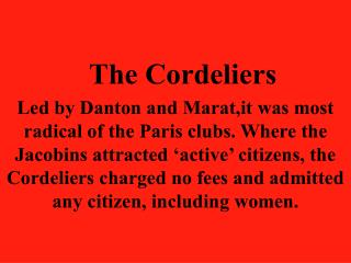 The Cordeliers
