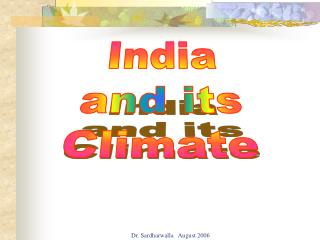 India and its Climate