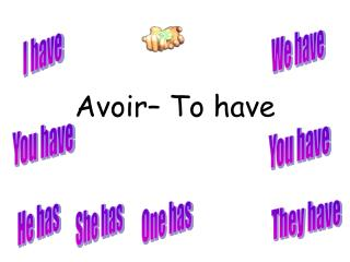Avoir – To have