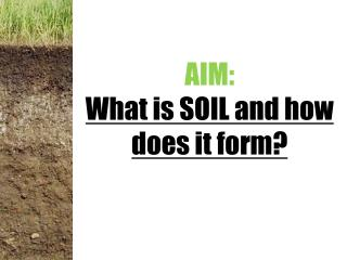 AIM:   What is SOIL and how does it form?