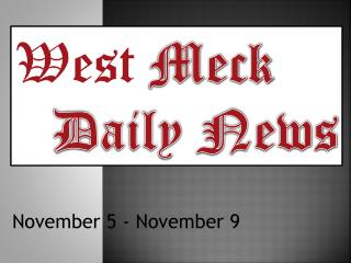 West  Meck  Daily News