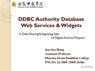 DDBC Authority Database  Web Services & Widgets