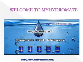 WELCOME TO MYHYDROMATE