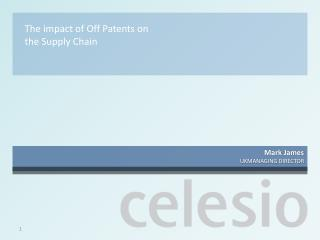 The impact of Off Patents on the Supply Chain