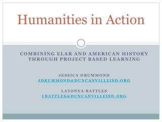 Humanities in Action