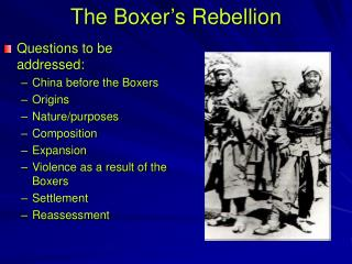 The Boxer's Rebellion