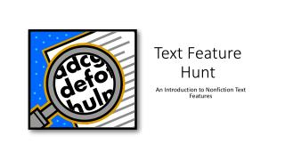 Text Feature Hunt