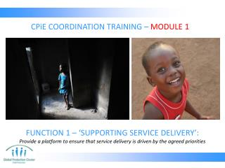 CPiE  COORDINATION TRAINING –  MODULE 1
