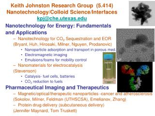 Nanotechnology for Energy: Fundamentals  and Applications