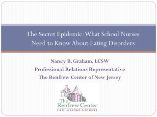 The Secret Epidemic: What School Nurses Need to Know About Eating Disorders