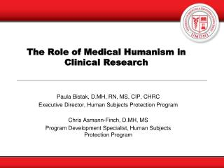 The Role of Medical Humanism in Clinical Research