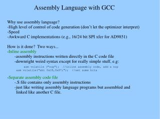 Assembly Language with GCC
