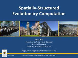 Spatially-Structured Evolutionary Computation
