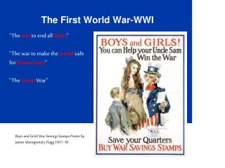 The First World War-WWI