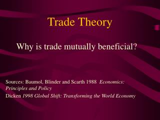 new trade theory New trade theory this theory states that corporations can make significant from mgm 355 at colorado technical university.