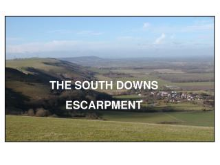 THE SOUTH DOWNS  ESCARPMENT