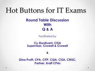 Hot Buttons for IT Exams