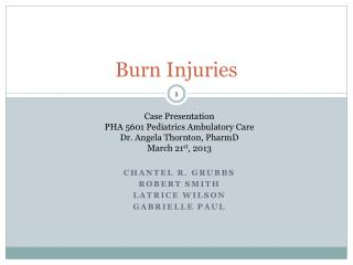 Burn Injuries