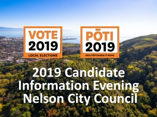 2019 Candidate Information Evening Nelson City Council