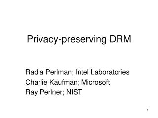Privacy-preserving DRM
